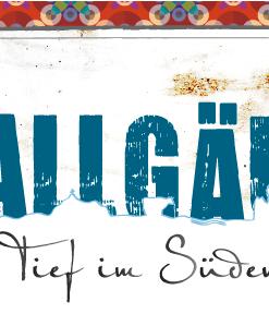Blechpostkarte »Allgäu«