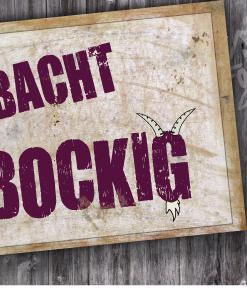 Blechpostkarte »Obacht Bockig«