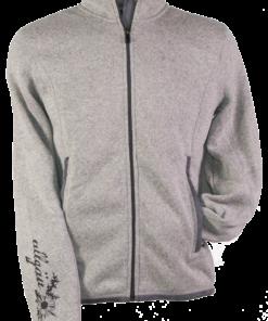 Strick-Fleece-Jacke HE | grau-meliert