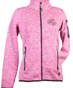 Strick-Fleece-Jacke DA | rosa-meliert