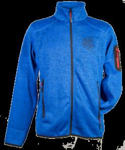 Strick-Fleece-Jacke HE | royalblau-meliert