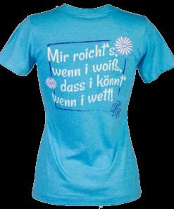 »Mir roicht's« | türkis-meliert