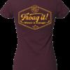 »Froag it!«   heather grape red