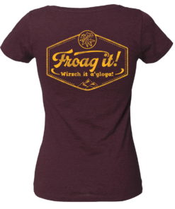 »Froag it!« | heather grape red
