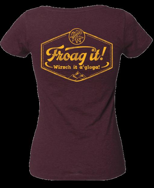 »Froag it!« | heather grape red