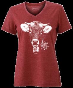 »Kuh Lotte« | weinrot-meliert